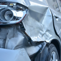Car damamged in a crash