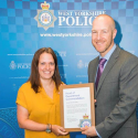 Hannah Ainley receives commendation from West Yokrshire Police