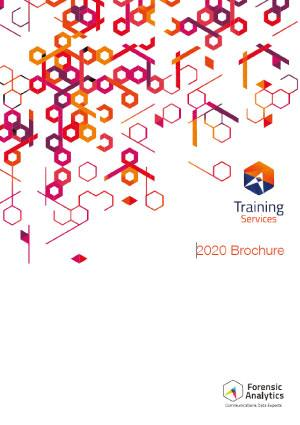 Forensic Analytics Training Brochure 2020