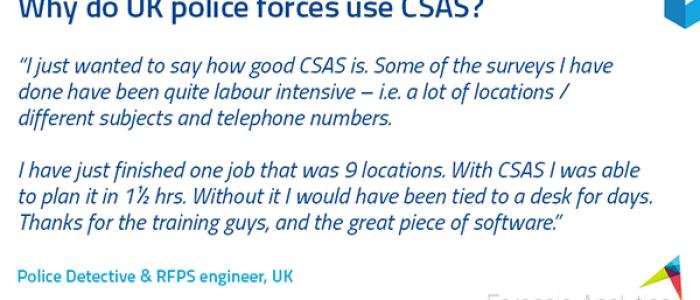 CSAS testimonial
